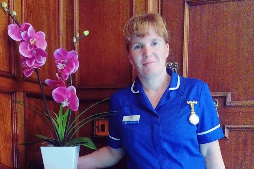 Julie Crayton at Dunollie Residential and Nursing Home