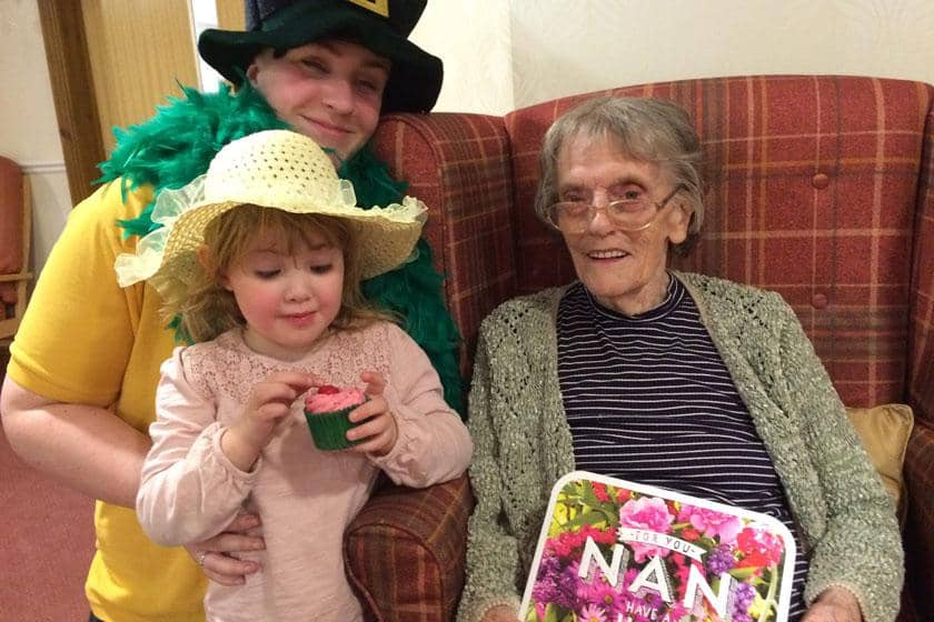 Activities assistant Kayleigh Innes, 3-year-old Theia Jones and birthday girl Elsie Sapsed