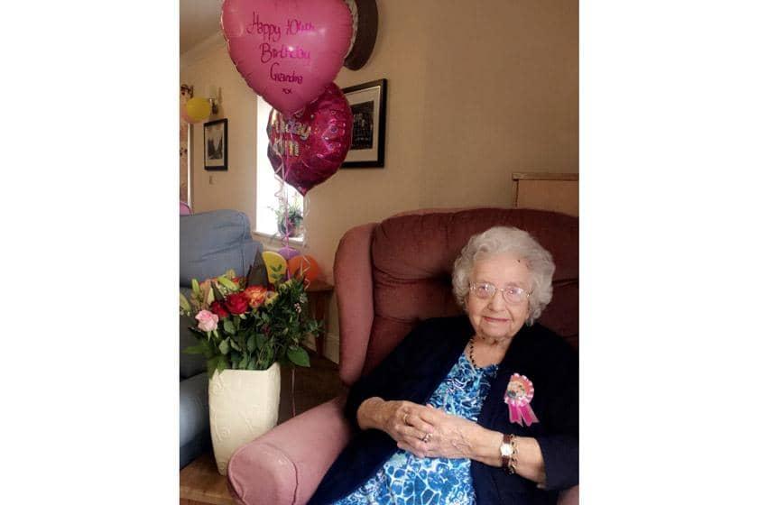 Florence celebrating her 104th birthday.