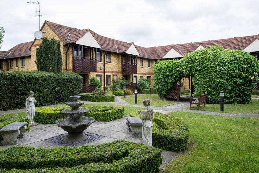 Exterior of Shaftesbury Court Residential Care Home