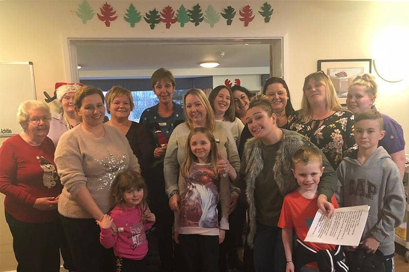 Emma's choir at Breme Residential Care Home in Bromsgrove.