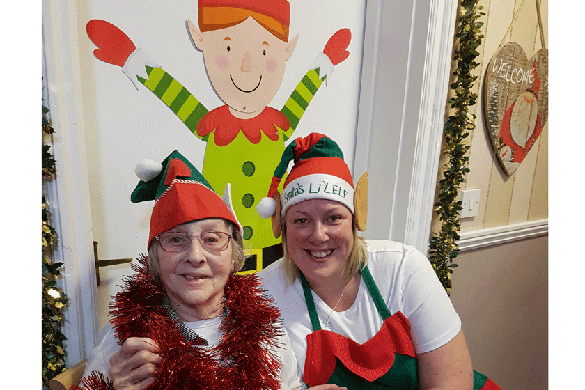 Resident Sheila Watson and Lead Care Assistant Tracey Sullivan
