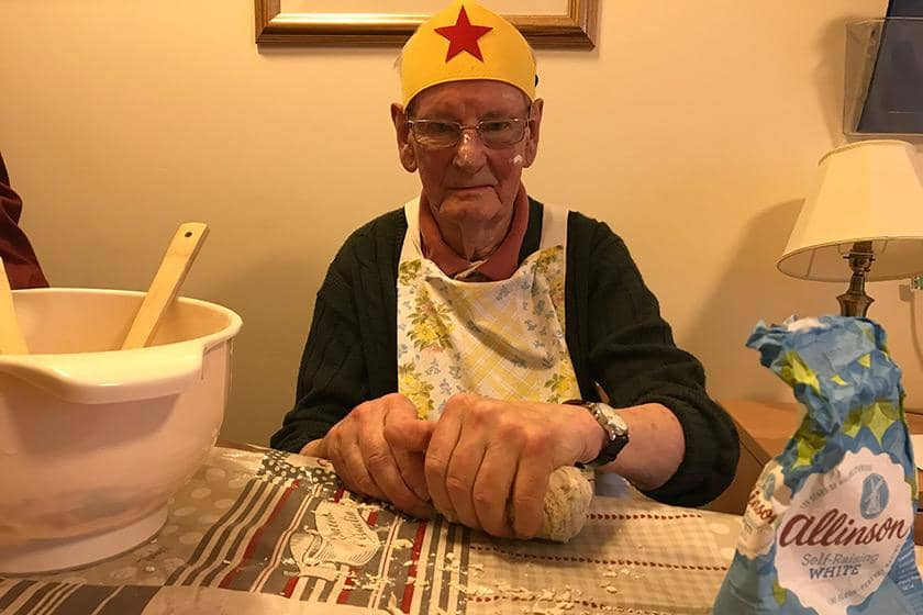 82-year-old resident John Challingsworth who won the 'Super Baker' award.