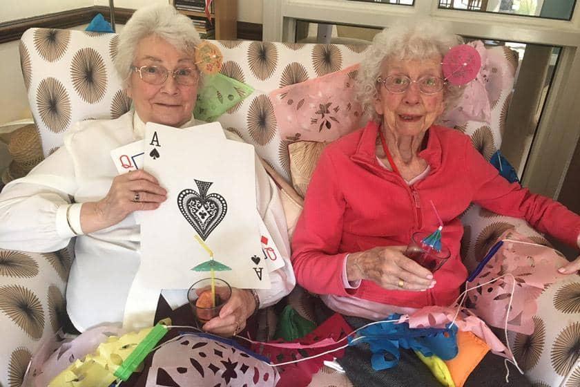 Two Yarnton residents enjoying the virtual summer cruise event.