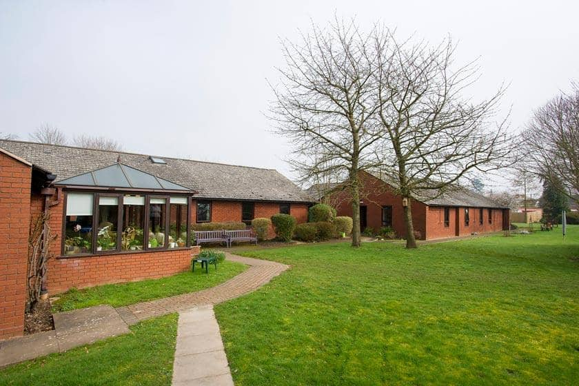 Exterior of Beechwood Residential Care Home in Upton-upon-Severn
