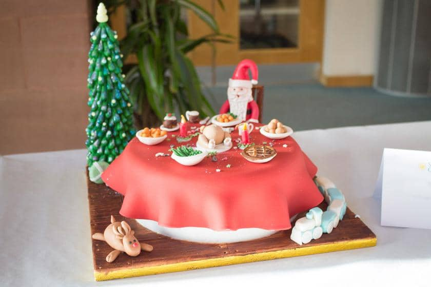The winning cake from Ivydene Residential Care and Nursing Home.