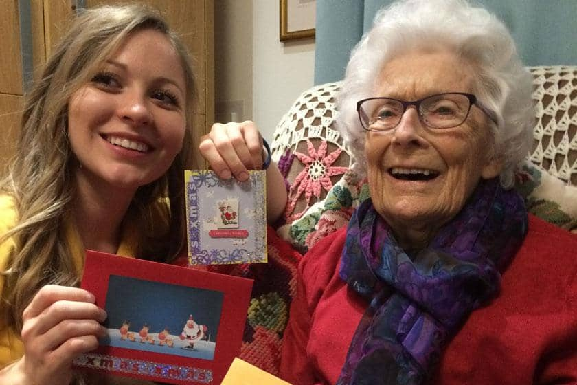 A Sanctuary Care home in Hersden are spreading Christmas cheer with some sparkling card designs.