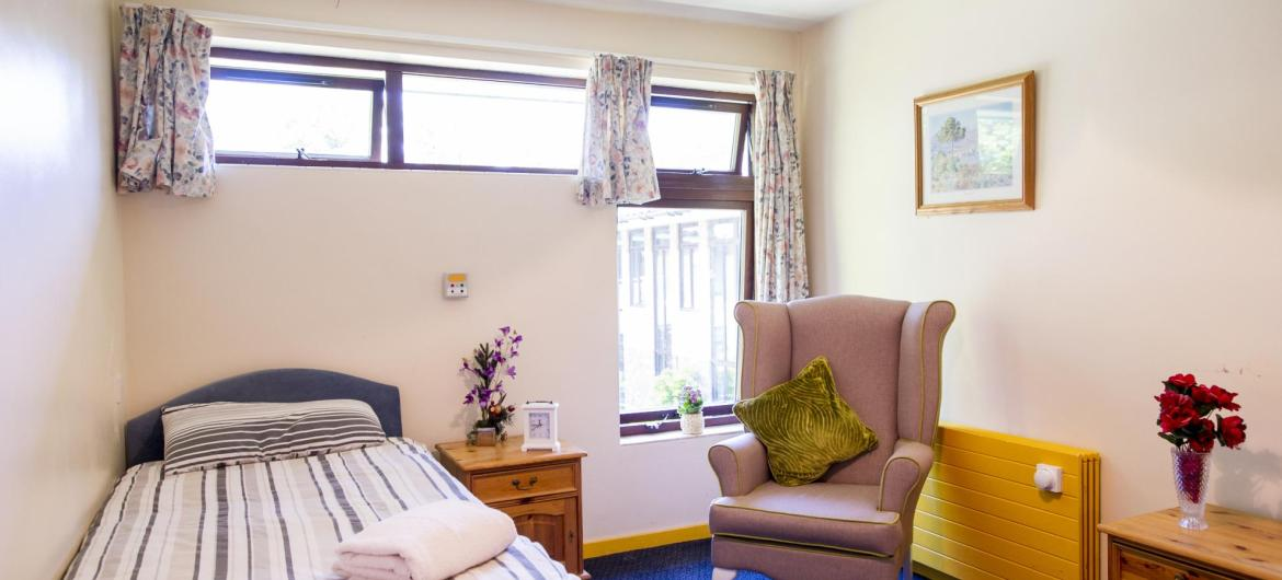 A bedroom at Parkview House Residential Care Home.