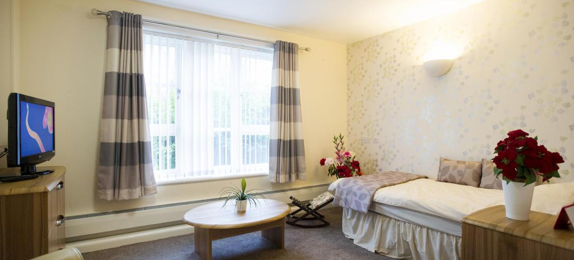 A typical bedroom at Aashna House Residential Care Home.