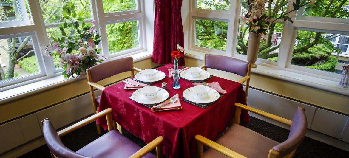 Dining Room at Aashna House Residential Care Home