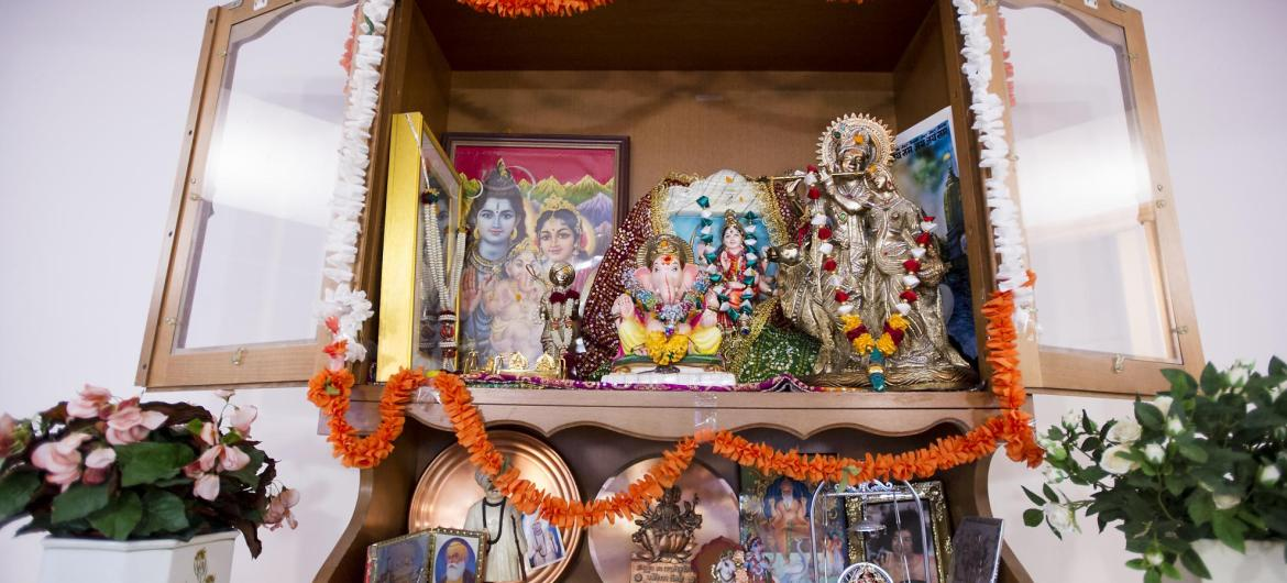 A shrine at Aashna House Care Home