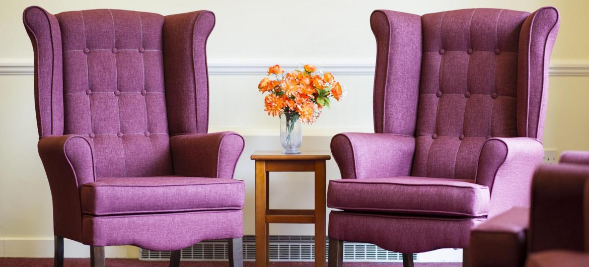 Lounge at Ashgreen House Residential and Nursing Home