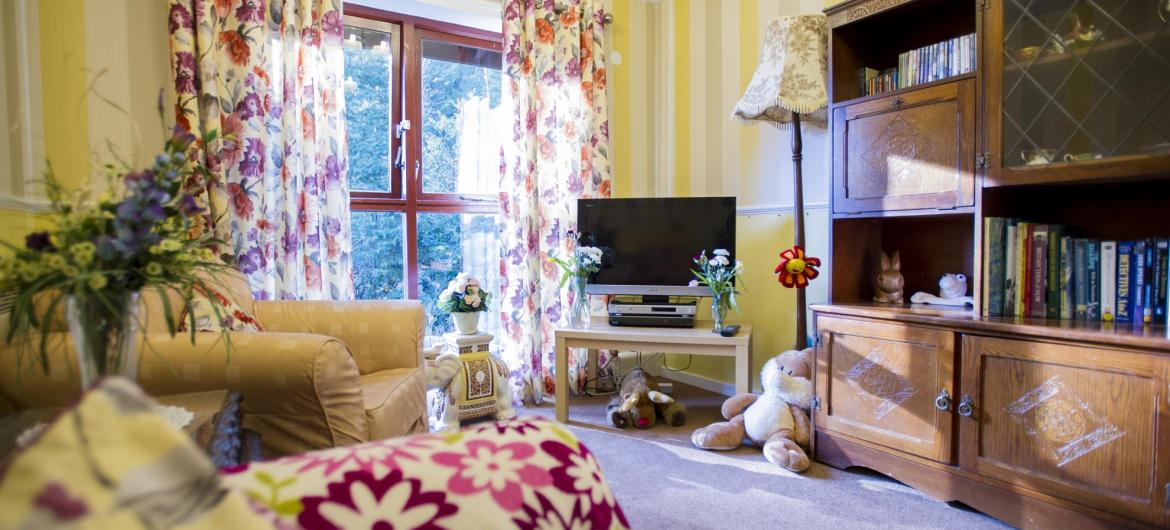Lounge at Ashley House Residential Care Home