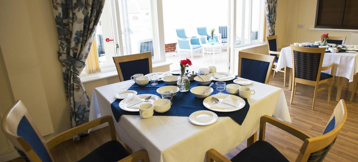 Dining Room at Asra House Residential Care Home