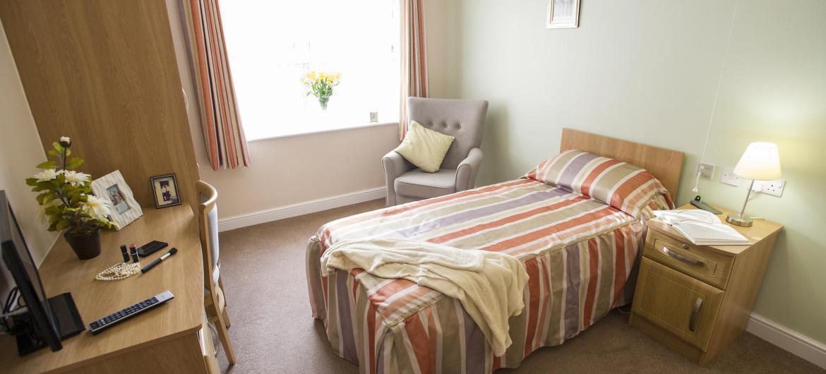 Bedroom at Bartley Green Lodge Residential Care Home