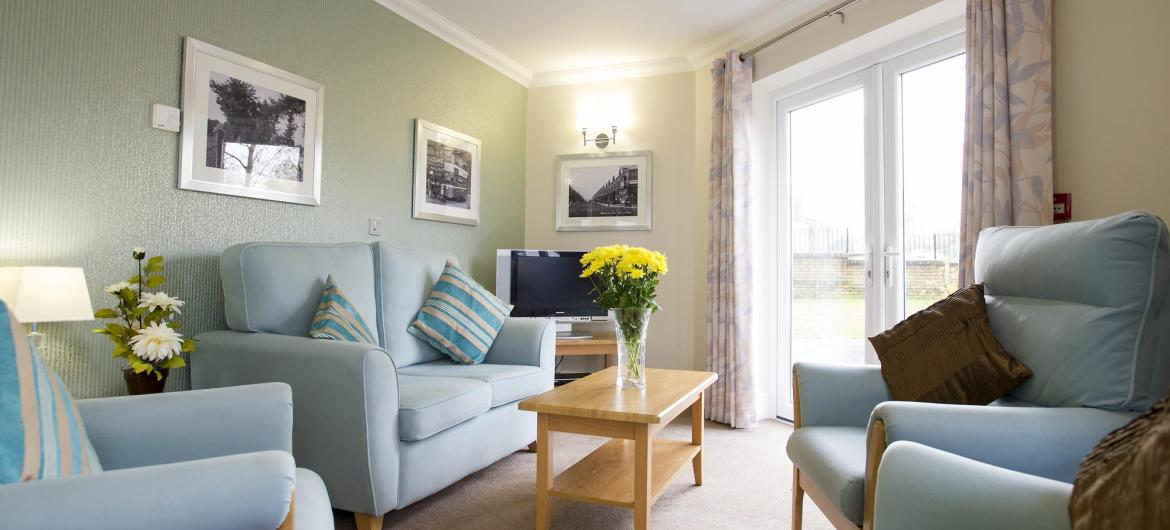 Lounge at Bartley Green Lodge Residential Care Home