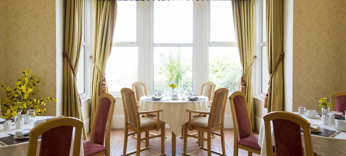Dining Room at Beach Lawns Residential and Nursing Home