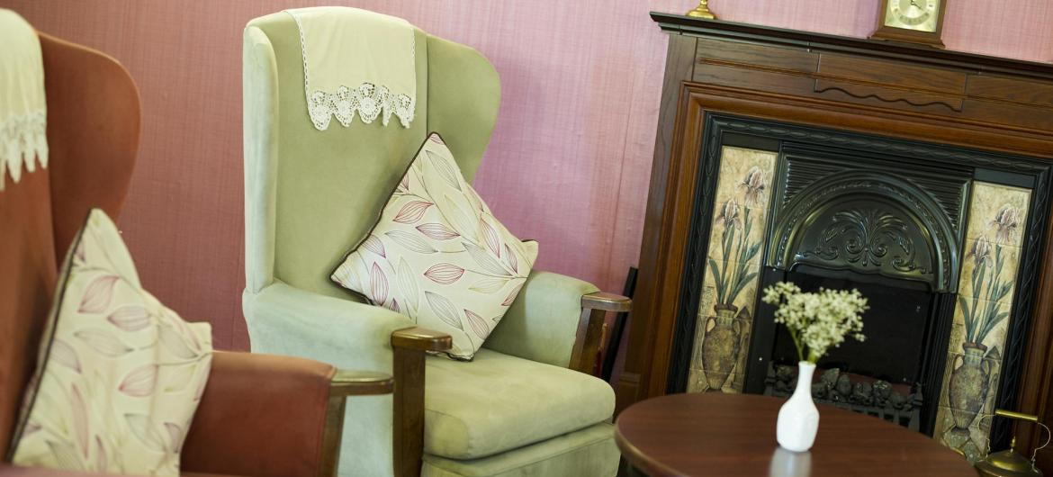 Lounge at Bradwell Court Residential Care Home