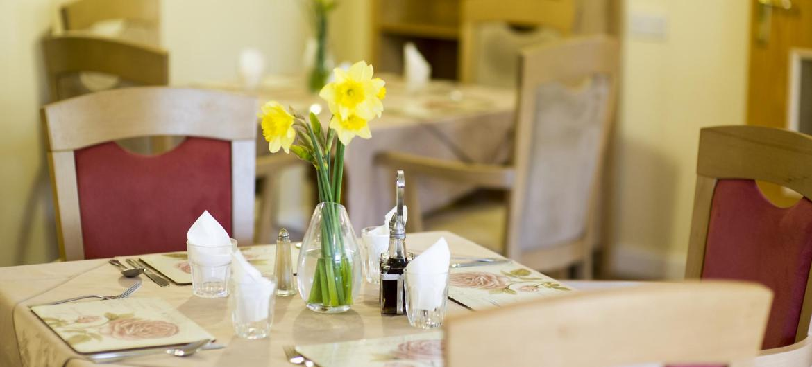 Dining Room at Brambles Residential Care Home
