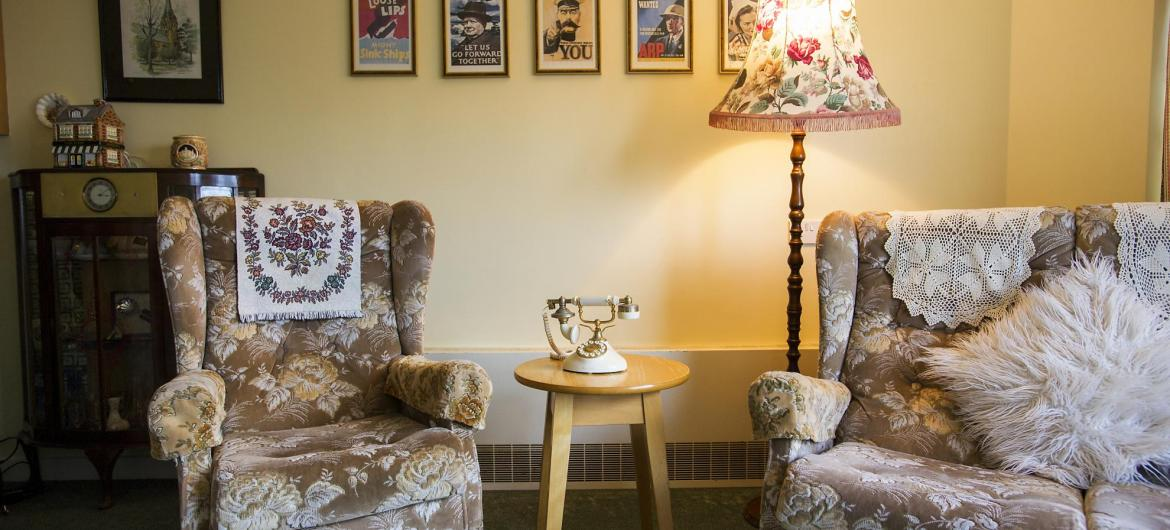 Lounge  at Brambles Residential Care Home