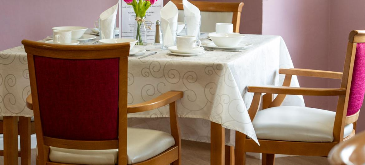 Abercorn House care home dining area