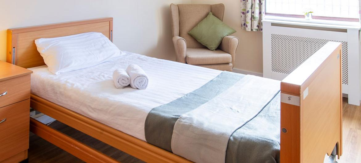 Abercorn House care home example bedroom