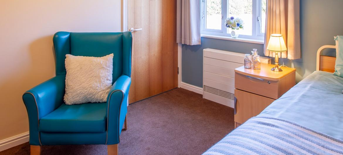Allanbank care home example bedroom