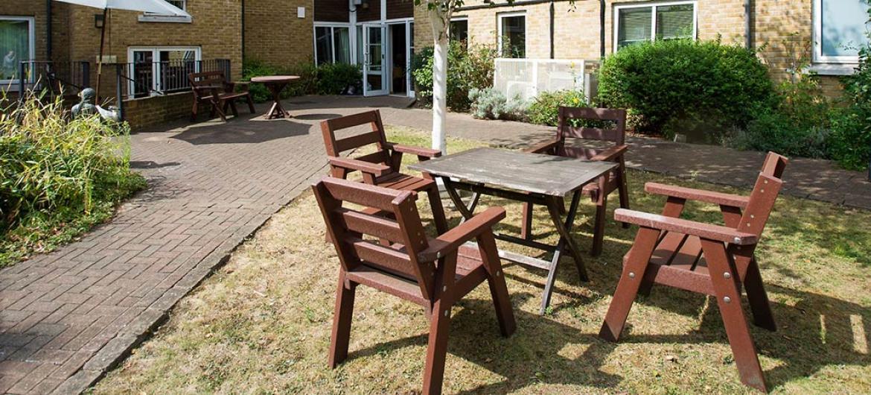 Athlone House care home rear gardens