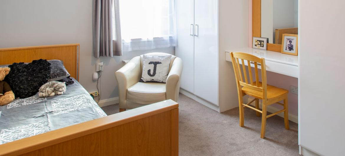 Birch House care home example bedroom