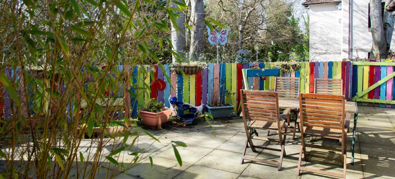 Birch House care home garden