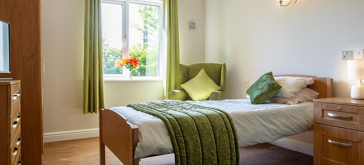 An example of a Bedroom at Birchwood Court Residential Care Home in Durham