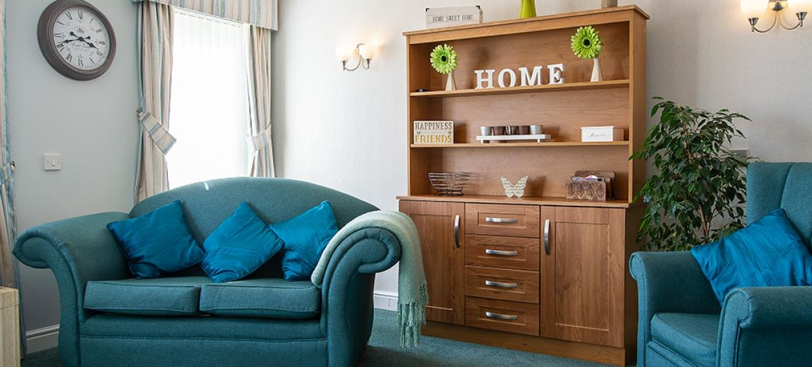 A Living Room at Birchwood Court Residential Care Home in Durham
