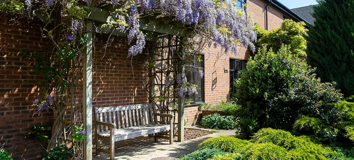 Gardens at Dalby Court Residential Care Home in Middlesbrough