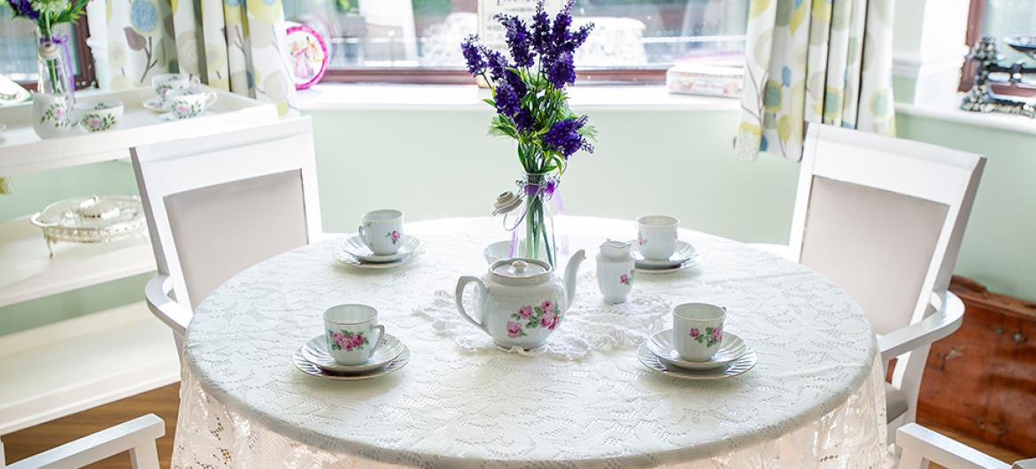 Tearoom at Dovecote Residential and Nursing Home in Durham