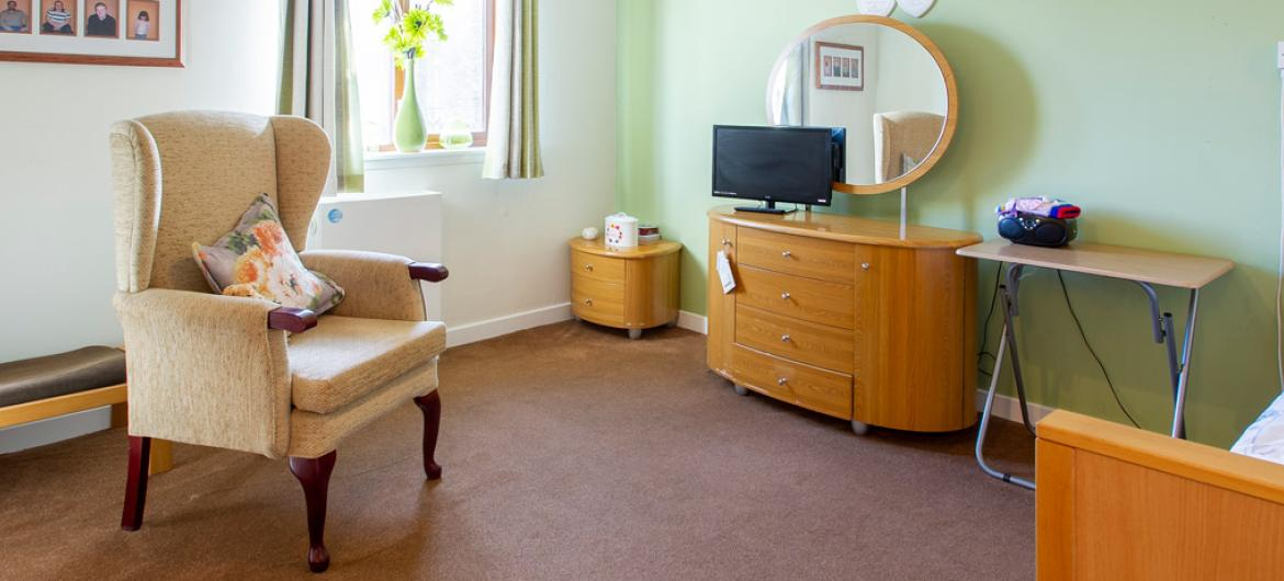 Forefaulds care home example bedroom