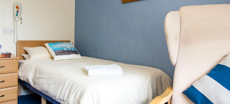 example bedroom at Furzehatt Care Home