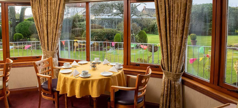 Tea room at Glenfairn House