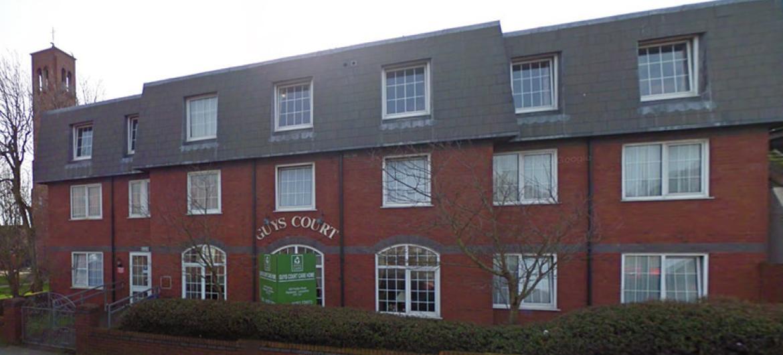 Exterior of Guys Court Nursing Home in Fleetwood
