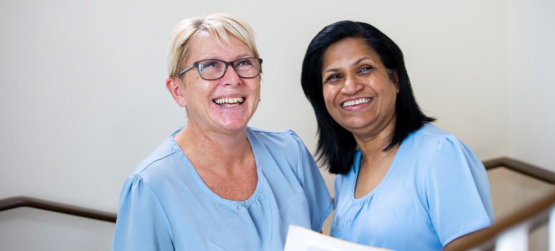 Sanctuary care staff smiling