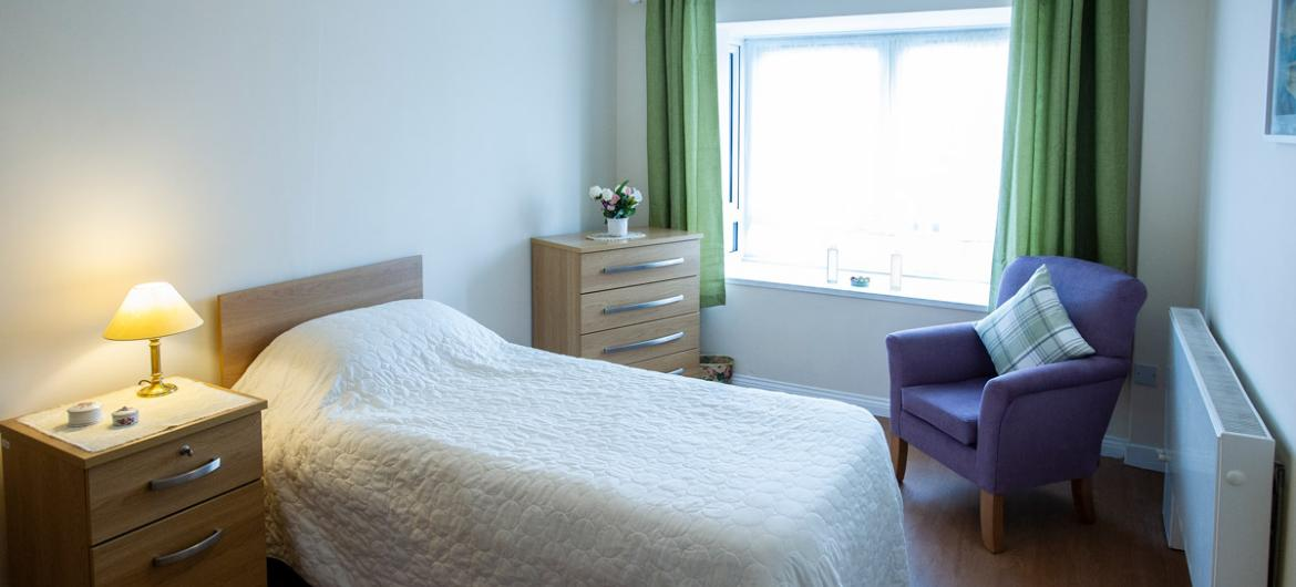 Example bedroom at Lammas House Residential Care Home