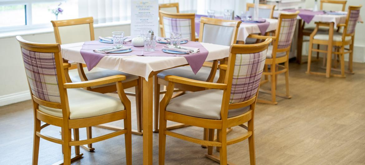 Dining area at Lammas House Residential Care Home
