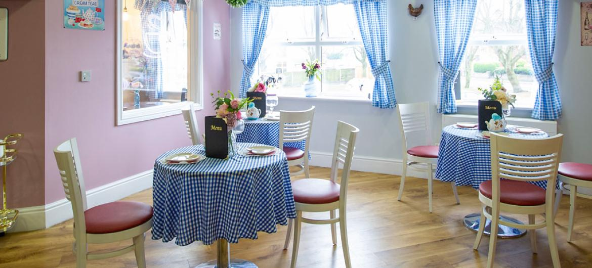 Cafe area at Lime Tree Court Residential Care Home