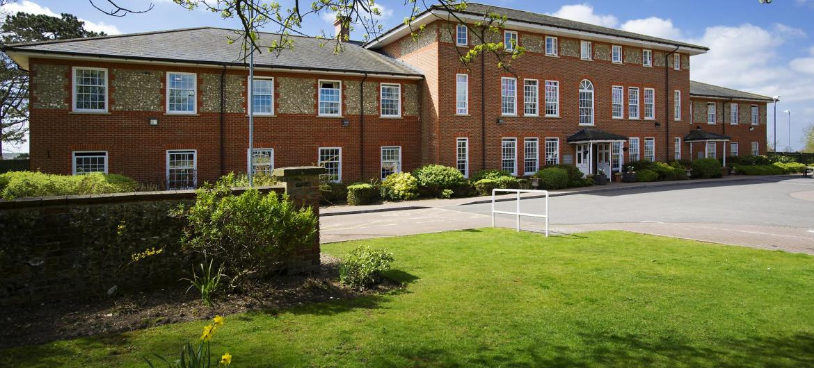 The view of the Watlington and District Nursing Home from across the street.