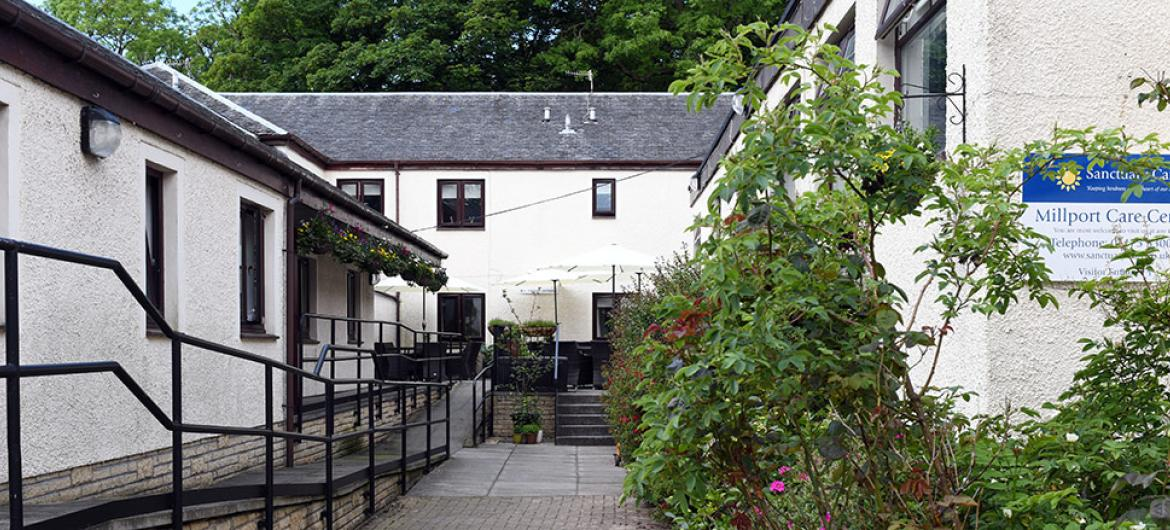 Exterior at Millport Care Centre in Ayrshire