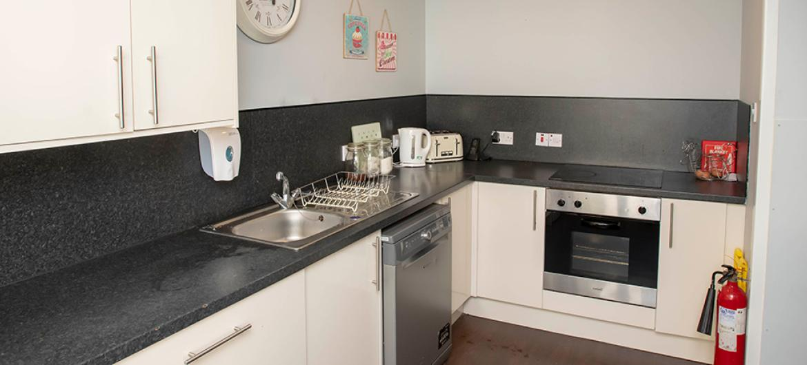 Kitchen at Millport Care Centre in Ayrshire