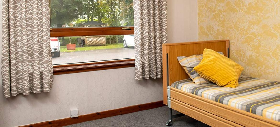 Inviting bedrooms at Mull Hall Care Home in Invergordon