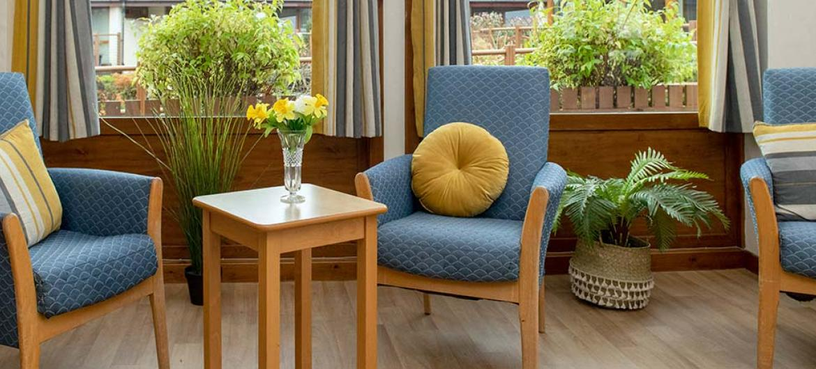 Bright and airy lounge areas at Mull Hall Care Home in Invergordon
