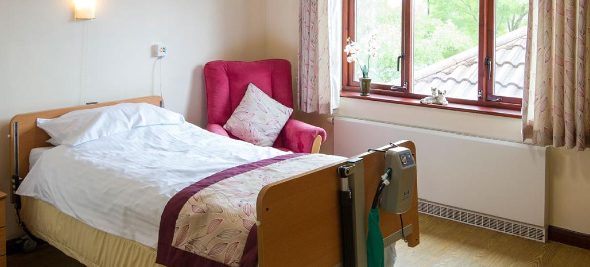 A typical bedroom at Caton House Residential and Nursing Home