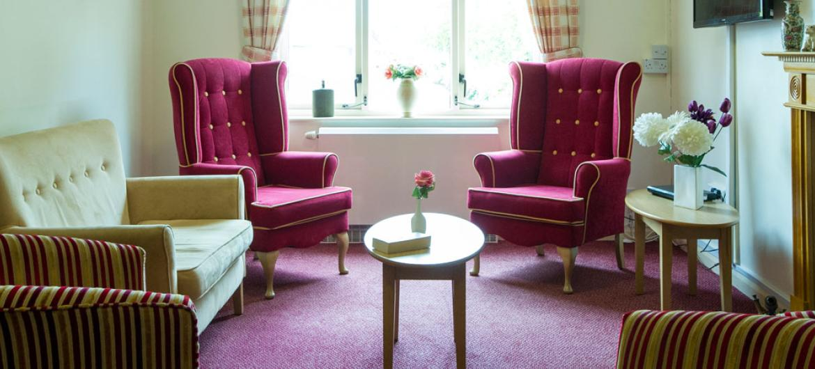 A comfortable seating area for residents and their guests at Caton House Residential