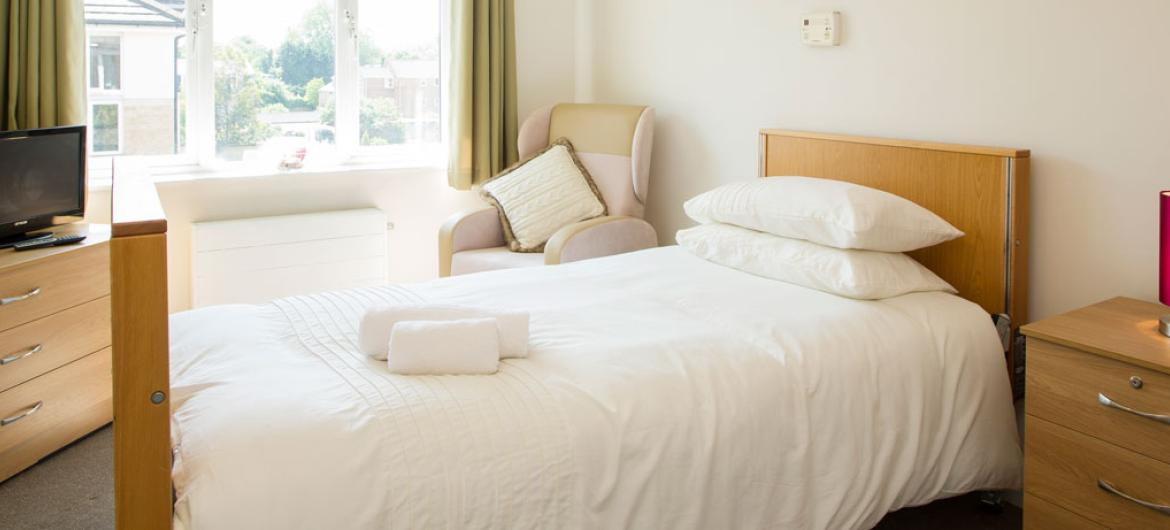 An example bedroom at Riverlee Residential and Nursing Home